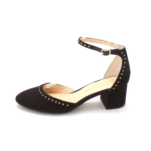 Unisa Womens claudi Closed Toe Casual Slingback Sandals, Black fabric, Size 8.5