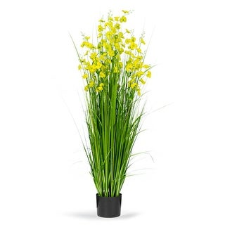 5 Feet High Artificial with Decorative Yellow Flowers