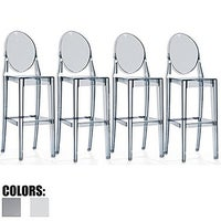 shop 2xhome set of 4 clear modern 30 seat bar stool counter