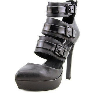 BCBGeneration Spotlight Women Open Toe Leather Black Platform Heel