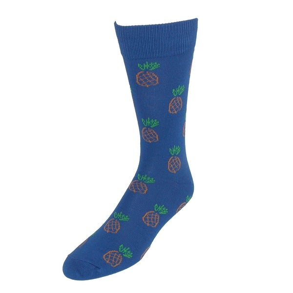 Fine Fit Men's Pineapple Print Dress Sock