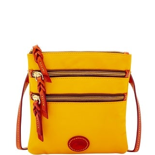 Dooney & Bourke Nylon North South Triple Zip (Introduced by Dooney & Bourke at $88 in Feb 2017) - Yellow