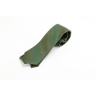 XMI Platinum NEW Green Micro Geometric Men's Neck Tie Silk Accessory