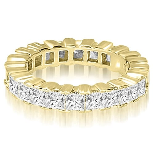3.75 cttw. 14K Yellow Gold Princess Prong Diamond Eternity Ring