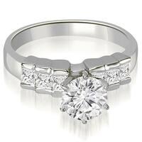 1.10 cttw. 14K White Gold Princess Cut Diamond Engagement Ring