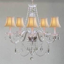Swarovski Crystal Trimmed Chandelier Lighting Venetian Style Chandelier Lighting