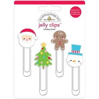 Doodlebug Jelly Clips 4/Pkg-Holiday Cheer
