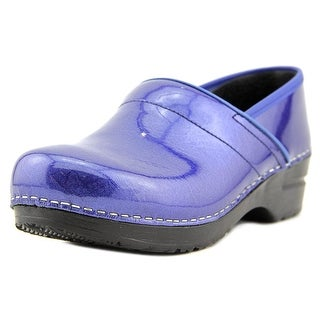 Sanita Pearl  Women  Round Toe Patent Leather Blue Clogs