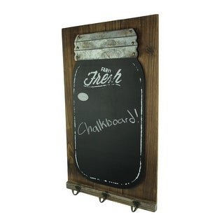 Wood and Metal Mason Jar Chalkboard Wall Hook