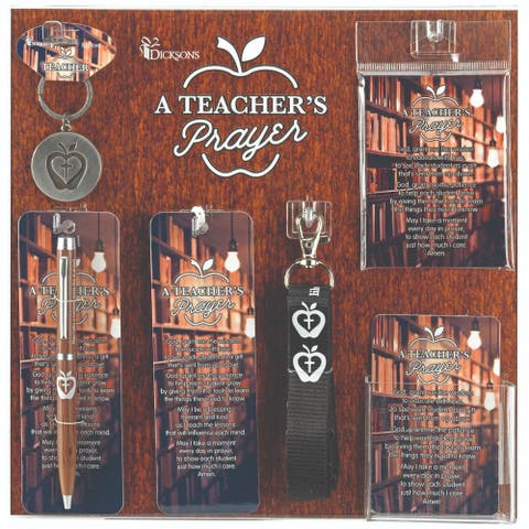 "13"" Brown and Black Teachers Prayer Display and Assortment Board"