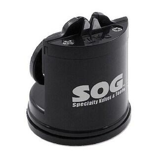 "SOG Countertop Sharpener Gear SH-02 2.5"" Tall, Suction Bottom, Black"