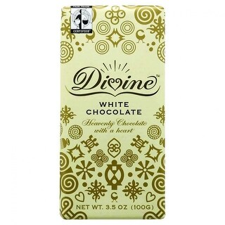 Divine Chocolate Bar, White Chocolate - (Case of 10 - 3.5 oz)