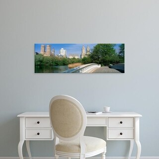 Easy Art Prints Panoramic Images's 'Bow Bridge, Central Park, NYC, New York City, New York State, USA' Canvas Art