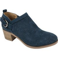White Mountain Women's Avenue Bootie Navy Suedette