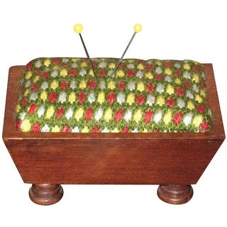 "Mahogany Vintage Pincushion 3.5""X5""-Design Area 2""X3"""