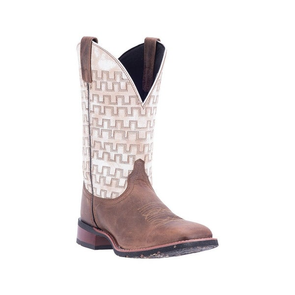 Laredo Western Boots Mens Leather Ultra Light Sand White