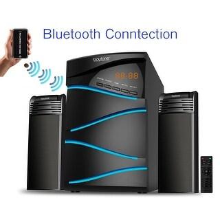 Boytone BT-428F, 2.1 Bluetooth Powerful Home Theater Speaker System, with FM Radio, SD USB ports, 50 Watts, Disco Light, Remote