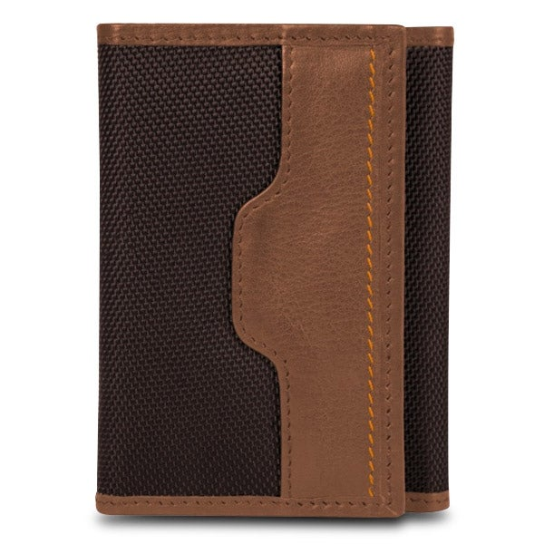 Travelon Safe ID Hack-Proof Accent Trifold Wallet With RFID Protection, Saddle