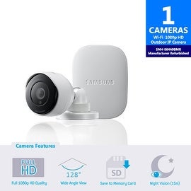 (Manufacturer Refurbished) SNH-E6440BMR - Samsung Smartcam HD Outdoor Home Monitoring Camera