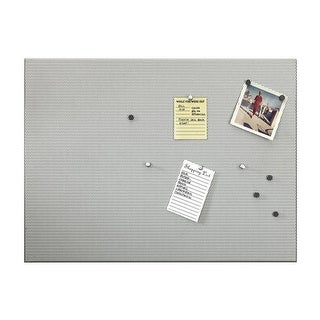 Umbra Bulletboard Magnetic Bulletin Board with Pushpins and Magnets, Silver, 15x21 Inches
