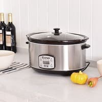 Costway 7 Quart Electric Slow Cooker Digital Kitchen Pot 6.5 Liters Capacity