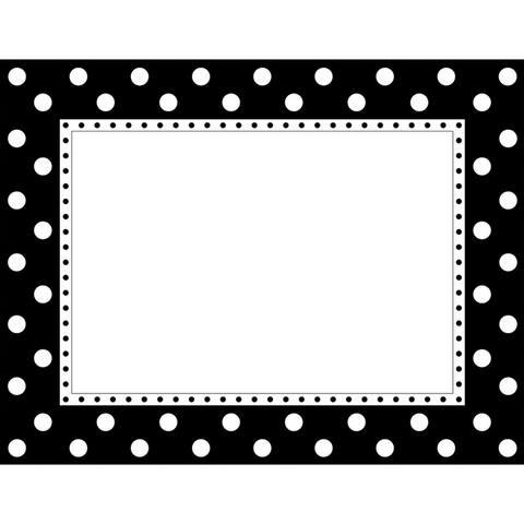 (6 Ea) Black & White Dot Chart