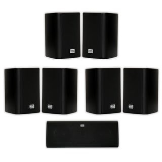 Acoustic Audio AA351B and AA40CB Indoor Speakers Home Theater 7 Speaker Set