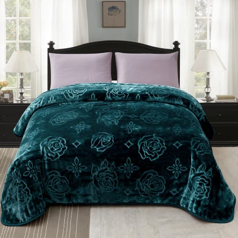 Rose Plush Mink Blanket For Twin/Queen Size Bed