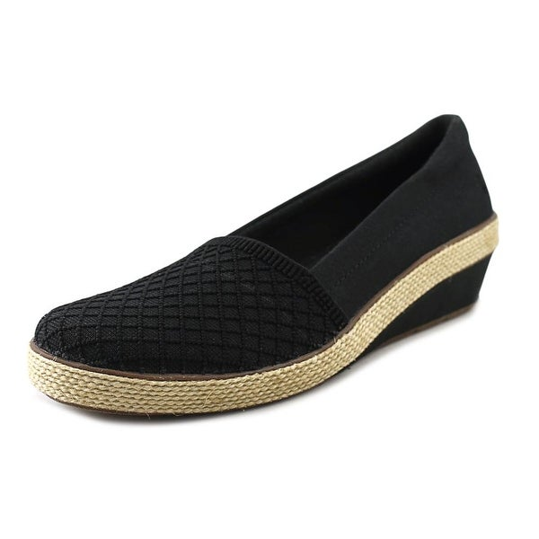 Grasshoppers Petunia Women Round Toe Canvas Black Loafer