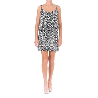 Be Bop Womens Juniors Sundress Printed V-Neck - M