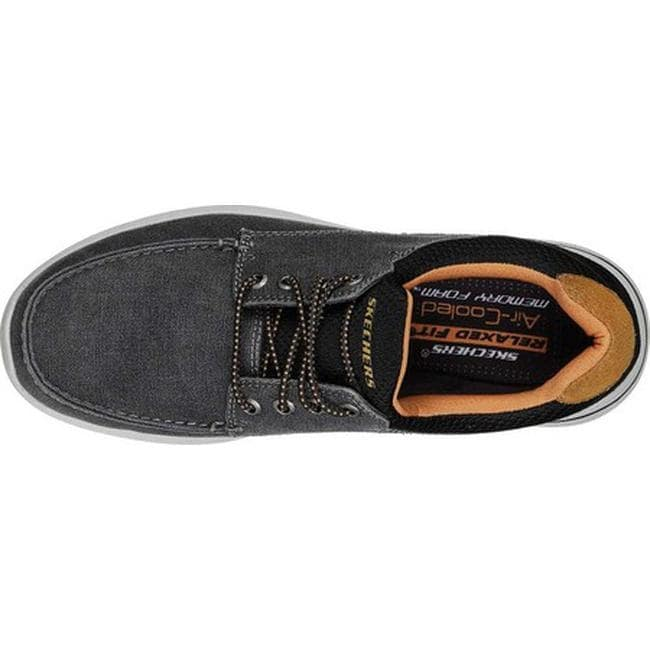 Relaxed Fit Elent Mosen Boat Shoe Black