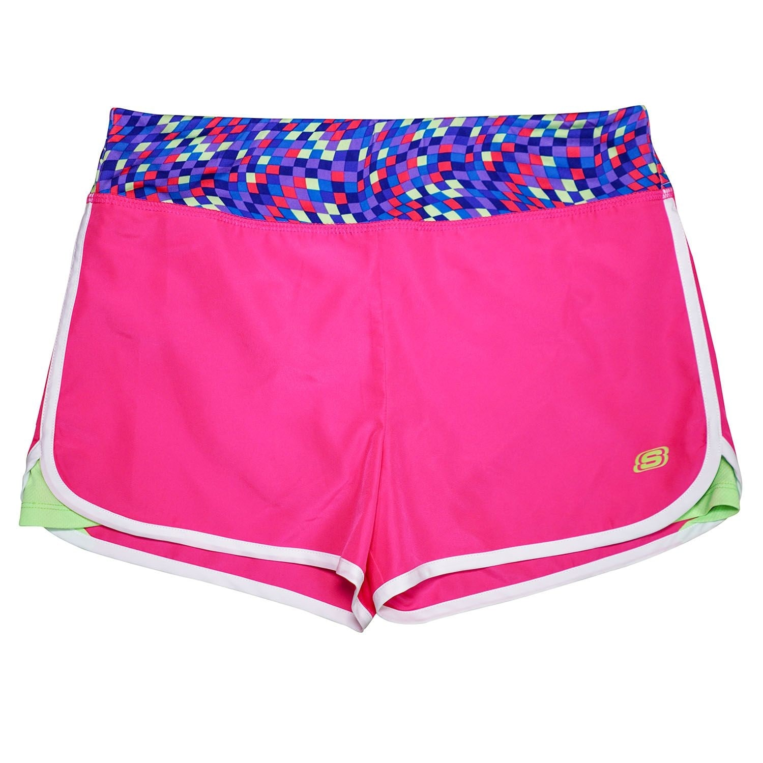 Skechers Girls' Elastic Waistband Lined Active Shorts - Overstock -  28161339 - Pink - 18 Months
