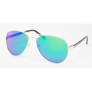Maui and Sons Mens Gold Aviator Sunglasses MS008-2, Includes Soft Pouch, Polarized Lens