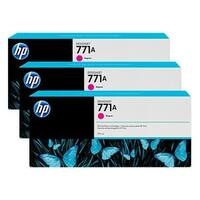 HP 771A 3-Cartridges 775-ml Magenta DesignJet Ink Cartridges (B6Y41A) (Single Pack)