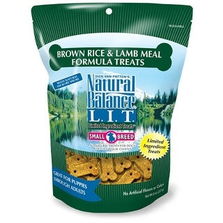 Natural Balance L.I.T. Limited Ingredient Treats Brown Rice & Lamb Meal 8oz