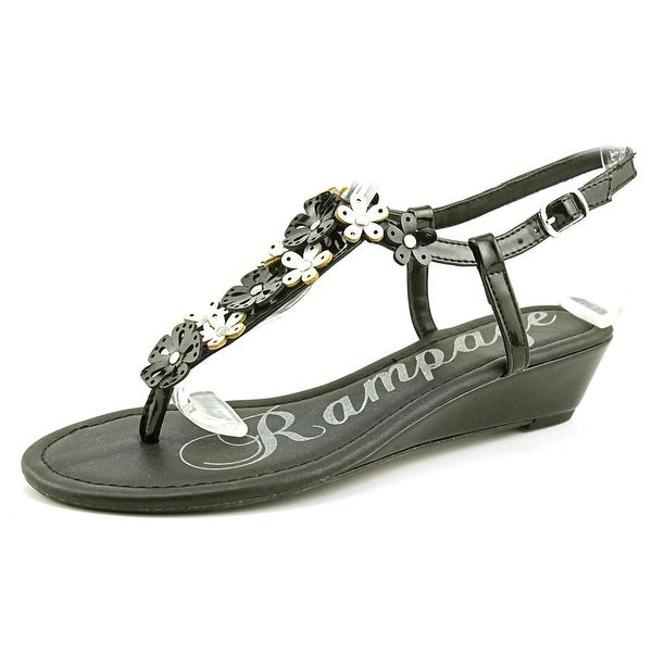 Rampage Sondy Women  Open Toe Synthetic Black Wedge Sandal