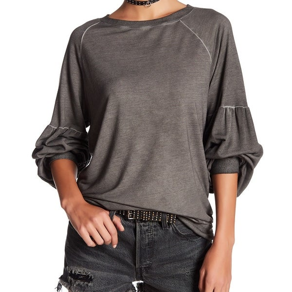 059773da457 Shop Dantelle NEW Deep Gray Womens Size XL Bishop-Sleeve Crewneck Sweater -  Free Shipping On Orders Over  45 - Overstock - 21868757