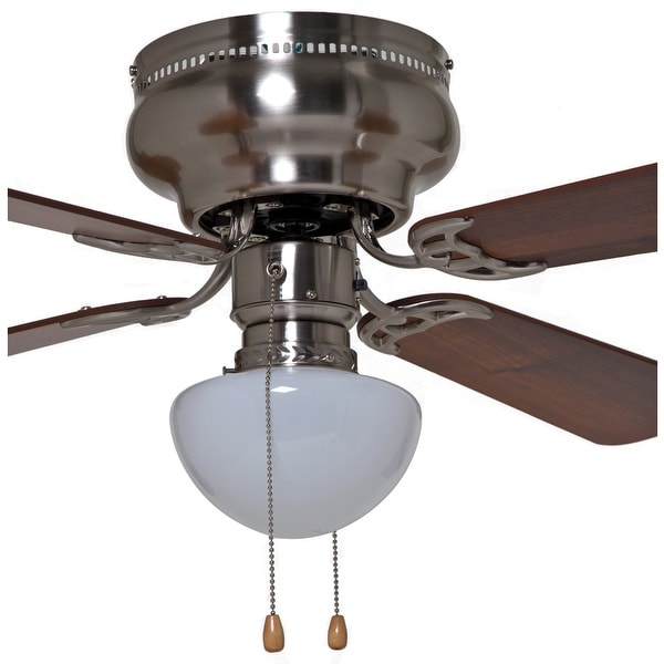 Boston Harbor 42-742T-MR-EN-BN Hugger Style Ceiling Fan, Brushed Nickel
