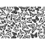 "Butterflies - Darkroom Door Background Cling Stamp 4""X6"""