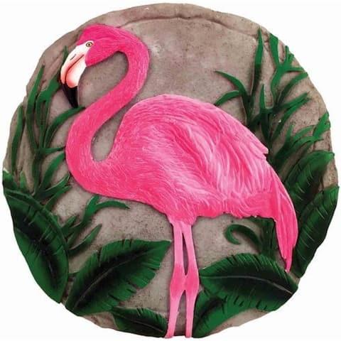 Set of 2 Pink Flamingo Decorative Garden Stones