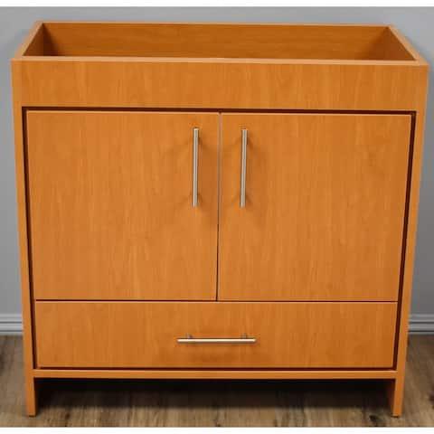 Volpa USA Pacific 36-inch Honey Maple Freestanding Bathroom Cabinet