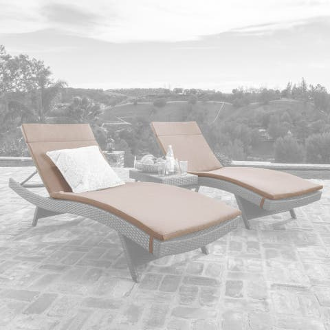 Salem Outdoor Chaise Lounge Cushions (Set of 2) (Cushions Only) by Christopher Knight Home
