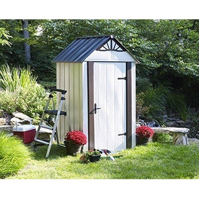 Arrow Designer Hot Dipped Galvanized Steel Shed 4' W x 4' L With swing doors / DSM44