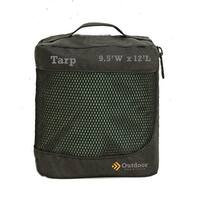 Outdoor Products OP-27163 Tarp, Forest Green - 9.5 x 12 in.
