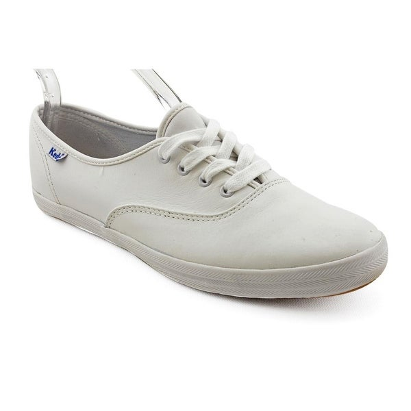 5b96bf2358f768 Shop Keds Champion Oxford Women Round Toe Leather White Sneakers ...