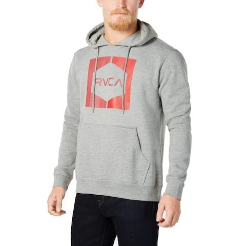 RVCA Mens Sweater Small Hooded Pullover Logo Pocket