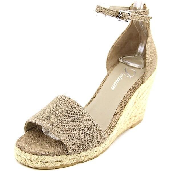 Delman Tira   Open Toe Leather  Wedge Heel