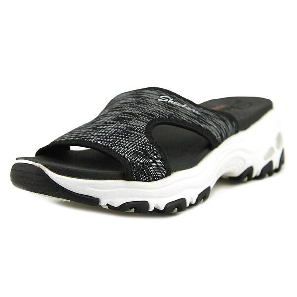 Skechers Cool Footings Women Open-Toe Canvas Black Sport Sandal