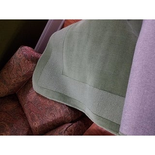 Shop Hand Tufted Moss Green Border Wool Rug 4 X 6 On