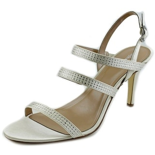 Style & Co Urey Women Open Toe Canvas Ivory Sandals